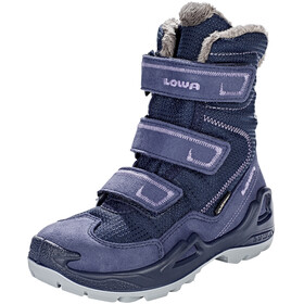 Lowa Milo GTX High Shoes Kids navy/lila